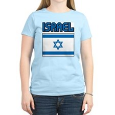 Israel Flag Women's Pink T-Shirt