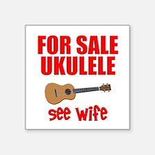 """funny ukulele uke Square Sticker 3"""" x 3"""""""