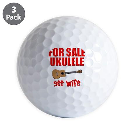 funny ukulele uke Golf Balls