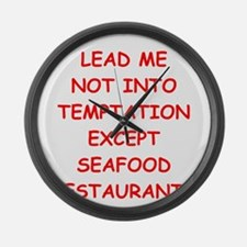 seafood Large Wall Clock