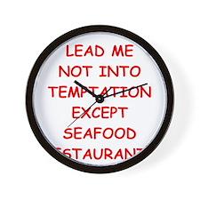 seafood Wall Clock
