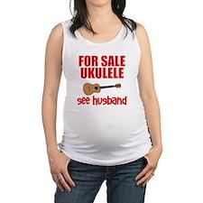 funny ukulele uke Maternity Tank Top