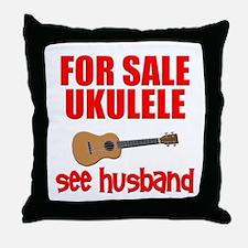 funny ukulele uke Throw Pillow