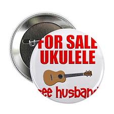 """funny ukulele uke 2.25"""" Button"""