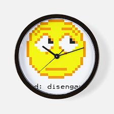 mood- disengaged Wall Clock