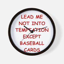 baseball cards Wall Clock