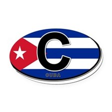 c-oval-colors Oval Car Magnet