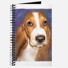 Cute Basset hound painting Journal