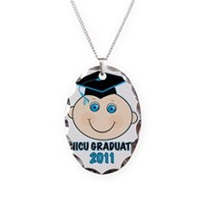 NicuGrad11BabyBoy Necklace Oval Charm