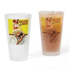 anchors aweigh yellow Drinking Glass