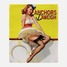 anchors aweigh yellow Throw Blanket