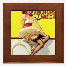 anchors aweigh yellow Framed Tile