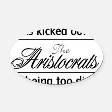 AristocratsBlack Oval Car Magnet