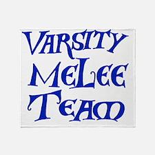melee-team-t-back3-blue Throw Blanket
