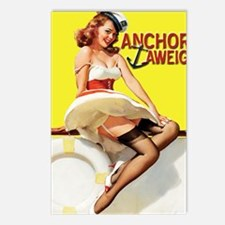 anchors aweigh yellow mou Postcards (Package of 8)
