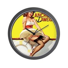 anchors aweigh yellow mousepad Wall Clock