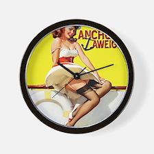 anchors aweigh yellow mousepad Wall Clock
