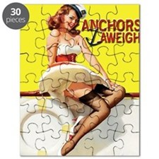anchors aweigh yellow mousepad Puzzle
