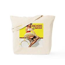 anchors aweigh yellow mousepad Tote Bag