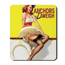 anchors aweigh yellow greeting card Mousepad
