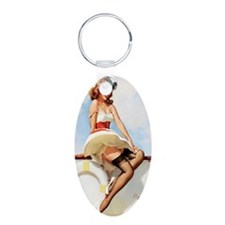 anchors aweigh mini poster Keychains