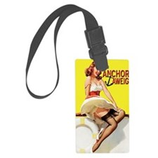 anchors aweigh yellow greeting c Luggage Tag