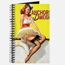 anchors aweigh yellow greeting card Journal