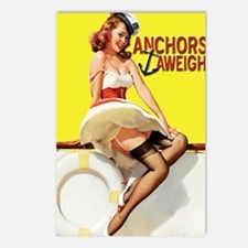 anchors aweigh yellow gre Postcards (Package of 8)
