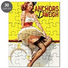 anchors aweigh yellow greeting card Puzzle