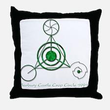 Barbury Castle Crop Circle Throw Pillow