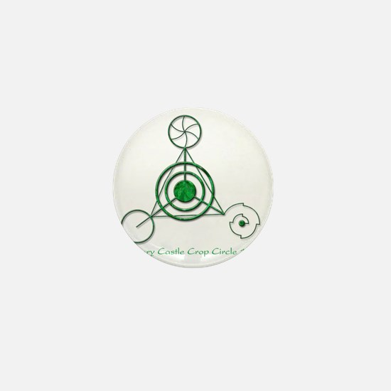 Barbury Castle Crop Circle Mini Button