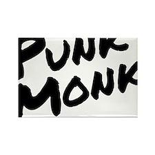 Punk Monk Rectangle Magnet