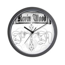 kwftn_shirt_white Wall Clock