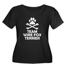 Team Wire Fox Terrier Plus Size T-Shirt
