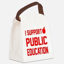 I Support Public Education red le Canvas Lunch Bag