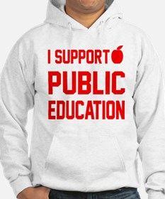 I Support Public Education red l Hoodie
