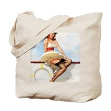 anchors aweigh small poster 16 by 20 Tote Bag