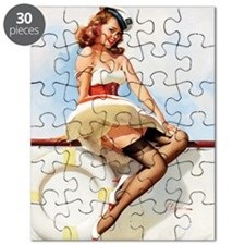 anchors aweigh small poster 16 by 20 Puzzle