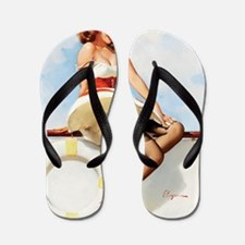 anchors aweigh small poster 16 by 20 Flip Flops