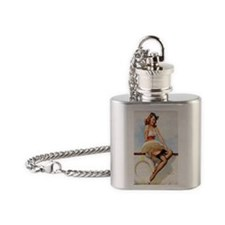 anchors aweigh magnet Flask Necklace