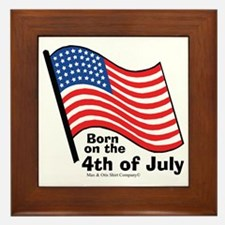 born-on-4th-of-july Framed Tile