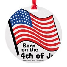 born-on-4th-of-july Ornament