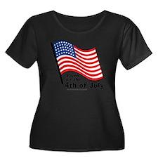 born-on- Women's Plus Size Dark Scoop Neck T-Shirt