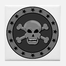 Star skull Circle Tile Coaster