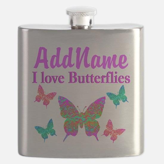 LOVE BUTTERFLIES Flask