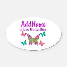 LOVE BUTTERFLIES Oval Car Magnet