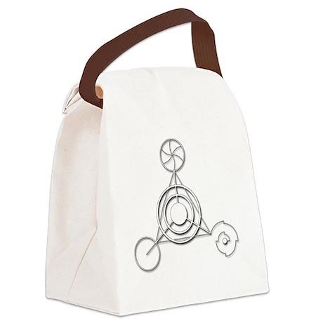 Barbury Castle Crop Circle white Canvas Lunch Bag