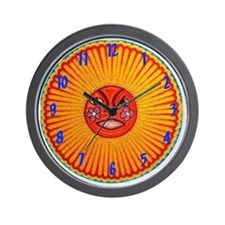 Huichol_String_Art_Sun_Clock_3070 Wall Clock