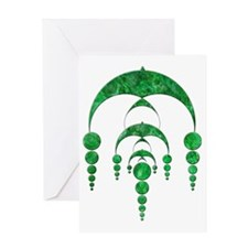Walkers Hill green_trans Greeting Card