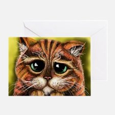 Sad Face Greeting Card